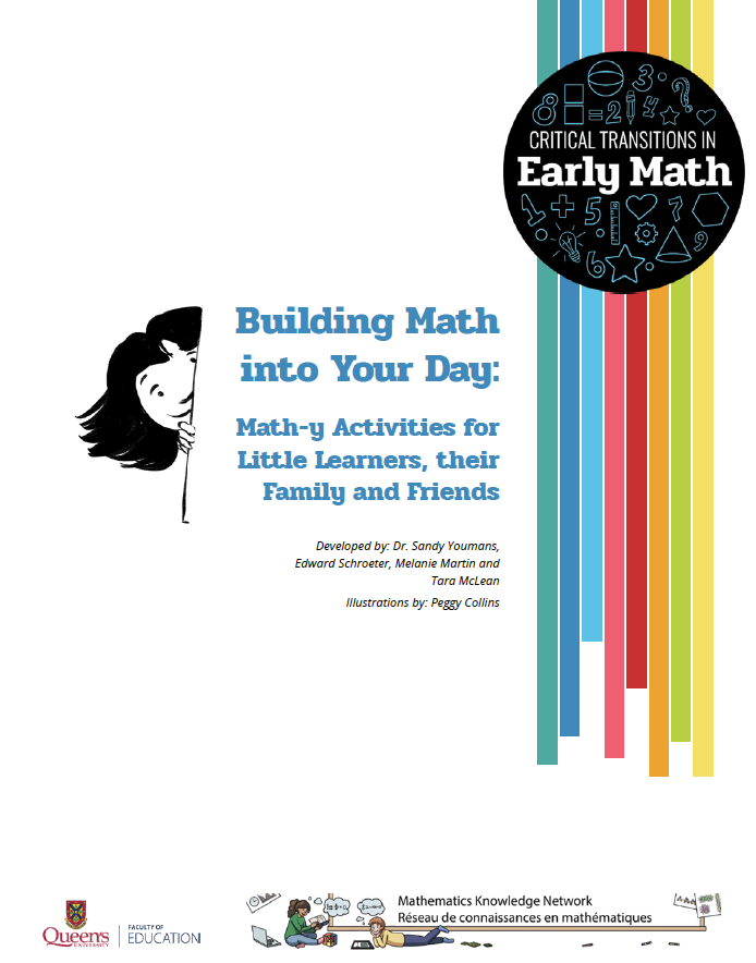Building Math into your day: Math-y activities for little learners, their family and friends.
